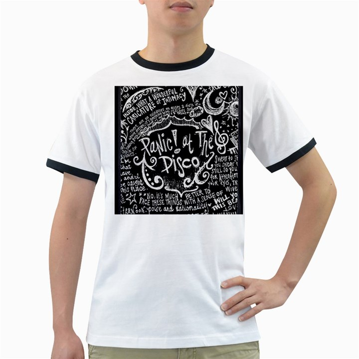 Panic ! At The Disco Lyric Quotes Ringer T-Shirts
