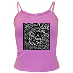 Panic ! At The Disco Lyric Quotes Dark Spaghetti Tank Front