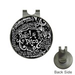 Panic ! At The Disco Lyric Quotes Hat Clips with Golf Markers Front