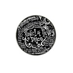 Panic ! At The Disco Lyric Quotes Hat Clip Ball Marker (4 pack) Front