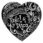 Panic ! At The Disco Lyric Quotes Jigsaw Puzzle (Heart) Front