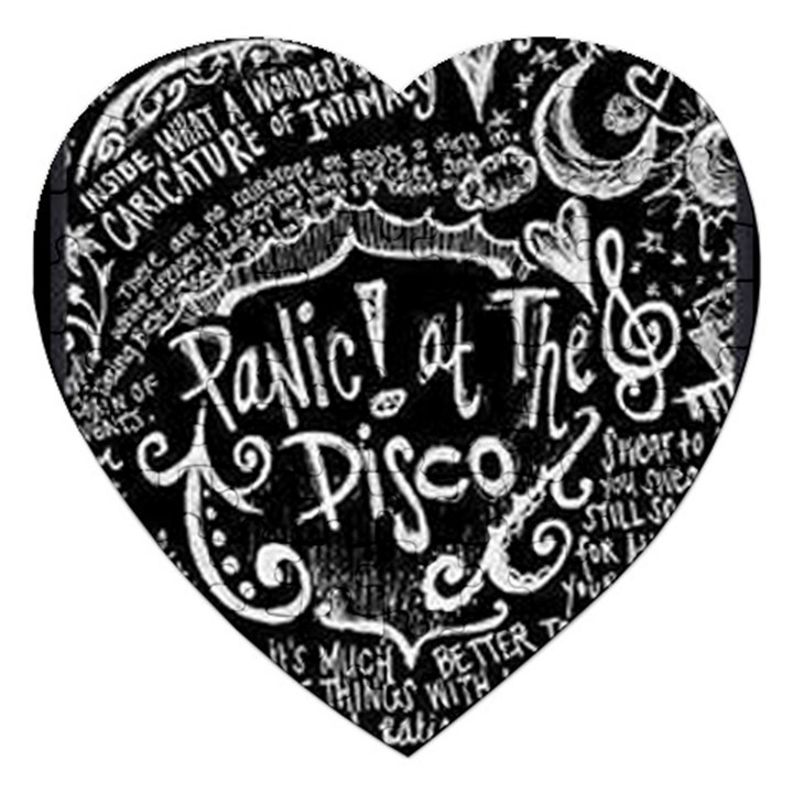 Panic ! At The Disco Lyric Quotes Jigsaw Puzzle (Heart)