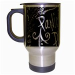 Panic ! At The Disco Lyric Quotes Travel Mug (Silver Gray) Left