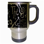 Panic ! At The Disco Lyric Quotes Travel Mug (Silver Gray) Right