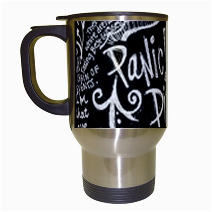 Panic ! At The Disco Lyric Quotes Travel Mugs (White)