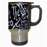 Panic ! At The Disco Lyric Quotes Travel Mugs (White) Right