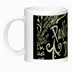 Panic ! At The Disco Lyric Quotes Night Luminous Mugs Left