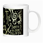 Panic ! At The Disco Lyric Quotes Night Luminous Mugs Right