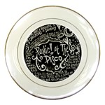 Panic ! At The Disco Lyric Quotes Porcelain Plates Front
