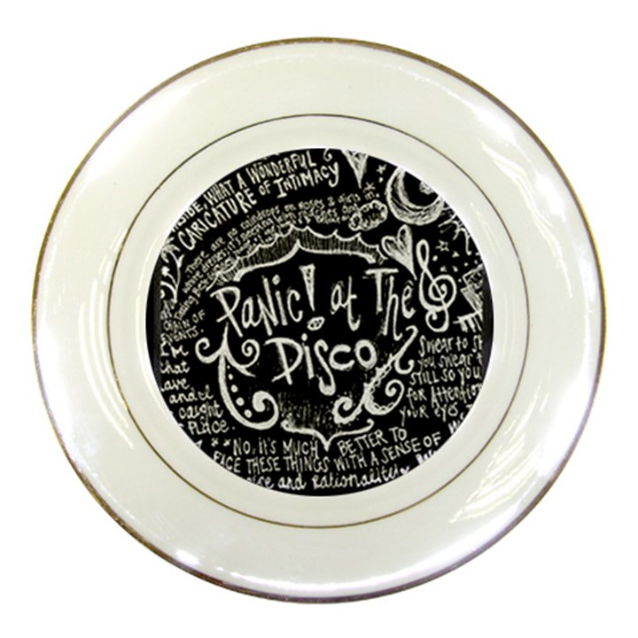 Panic ! At The Disco Lyric Quotes Porcelain Plates