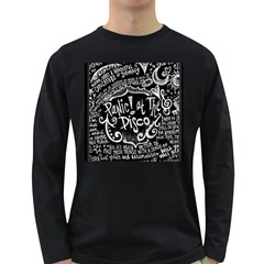 Panic ! At The Disco Lyric Quotes Long Sleeve Dark T-Shirts
