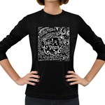 Panic ! At The Disco Lyric Quotes Women s Long Sleeve Dark T-Shirts Front