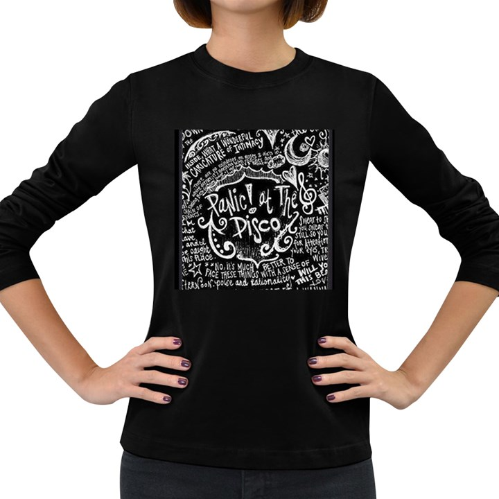 Panic ! At The Disco Lyric Quotes Women s Long Sleeve Dark T-Shirts