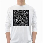 Panic ! At The Disco Lyric Quotes White Long Sleeve T-Shirts Front