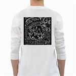 Panic ! At The Disco Lyric Quotes White Long Sleeve T-Shirts Back