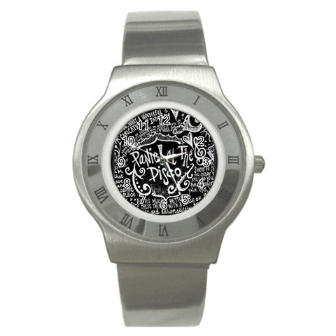 Panic ! At The Disco Lyric Quotes Stainless Steel Watch