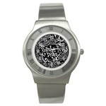 Panic ! At The Disco Lyric Quotes Stainless Steel Watch Front