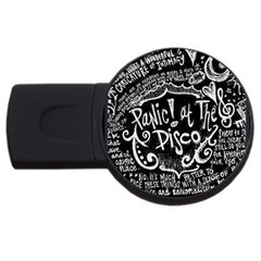 Panic ! At The Disco Lyric Quotes USB Flash Drive Round (4 GB)