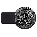 Panic ! At The Disco Lyric Quotes USB Flash Drive Round (4 GB)  Front