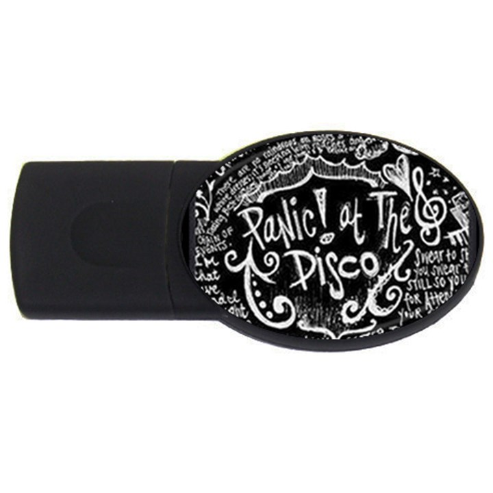 Panic ! At The Disco Lyric Quotes USB Flash Drive Oval (4 GB)