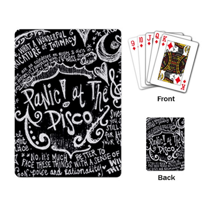 Panic ! At The Disco Lyric Quotes Playing Card