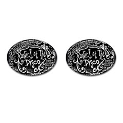 Panic ! At The Disco Lyric Quotes Cufflinks (oval)