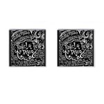 Panic ! At The Disco Lyric Quotes Cufflinks (Square) Front