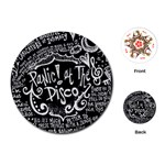 Panic ! At The Disco Lyric Quotes Playing Cards (Round)  Front