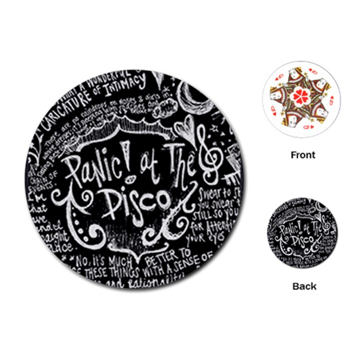 Panic ! At The Disco Lyric Quotes Playing Cards (Round)