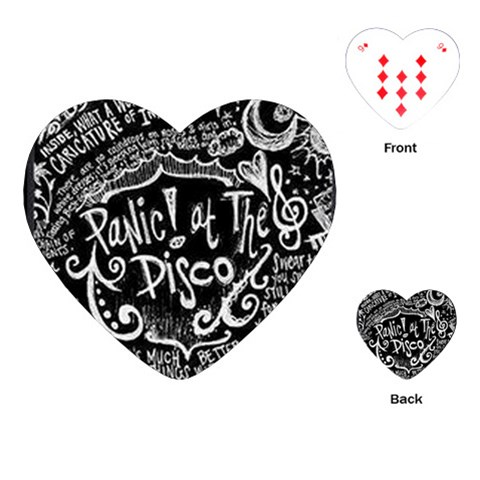 Panic ! At The Disco Lyric Quotes Playing Cards (Heart)