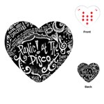 Panic ! At The Disco Lyric Quotes Playing Cards (Heart)  Front