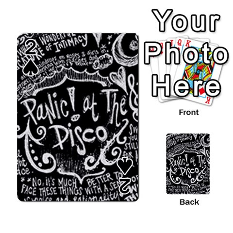 Panic ! At The Disco Lyric Quotes Playing Cards 54 Designs