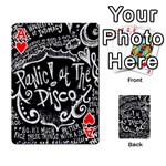 Panic ! At The Disco Lyric Quotes Playing Cards 54 Designs  Front - HeartA