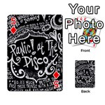 Panic ! At The Disco Lyric Quotes Playing Cards 54 Designs  Front - Diamond5