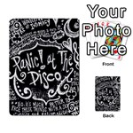 Panic ! At The Disco Lyric Quotes Playing Cards 54 Designs  Front - Club9