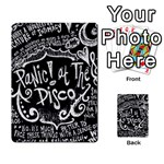 Panic ! At The Disco Lyric Quotes Playing Cards 54 Designs  Back