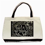 Panic ! At The Disco Lyric Quotes Basic Tote Bag Front