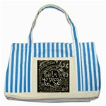 Panic ! At The Disco Lyric Quotes Striped Blue Tote Bag Front
