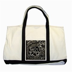 Panic ! At The Disco Lyric Quotes Two Tone Tote Bag