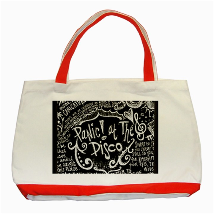Panic ! At The Disco Lyric Quotes Classic Tote Bag (Red)