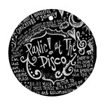 Panic ! At The Disco Lyric Quotes Round Ornament (Two Sides)  Back