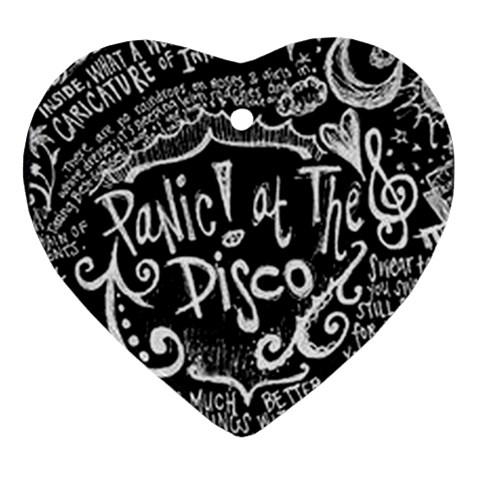 Panic ! At The Disco Lyric Quotes Heart Ornament (2 Sides)