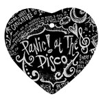 Panic ! At The Disco Lyric Quotes Heart Ornament (2 Sides) Back