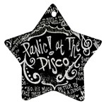 Panic ! At The Disco Lyric Quotes Star Ornament (Two Sides)  Front