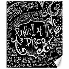 Panic ! At The Disco Lyric Quotes Canvas 8  x 10