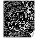 Panic ! At The Disco Lyric Quotes Canvas 8  x 10  10.02 x8 Canvas - 1