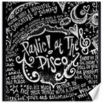 Panic ! At The Disco Lyric Quotes Canvas 12  x 12   12 x12 Canvas - 1