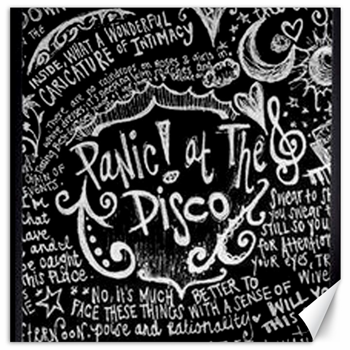 Panic ! At The Disco Lyric Quotes Canvas 12  x 12