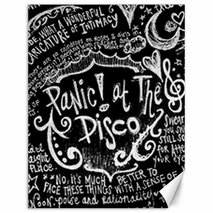 Panic ! At The Disco Lyric Quotes Canvas 12  x 16