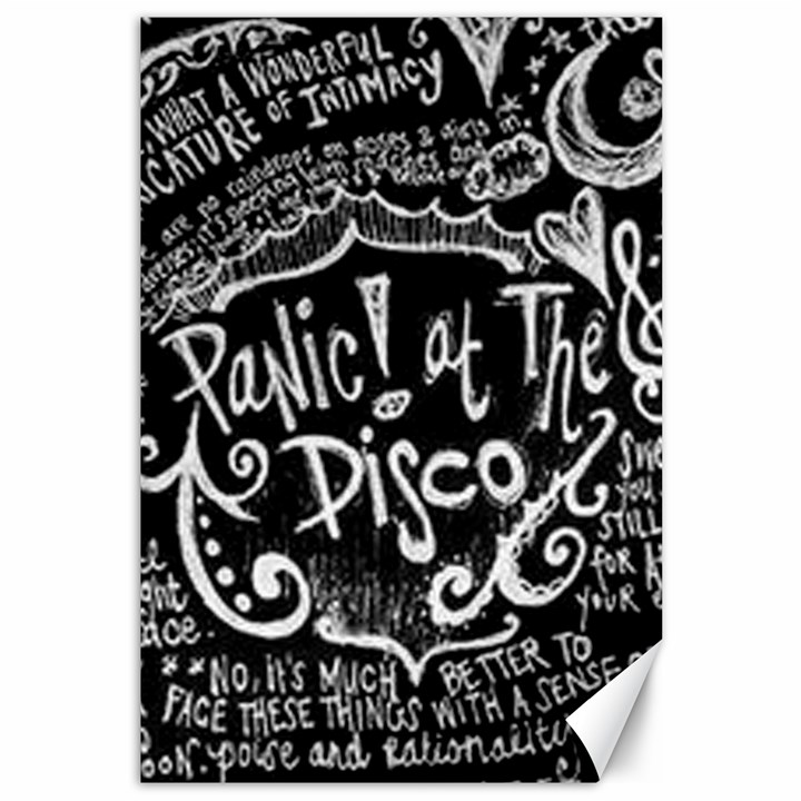 Panic ! At The Disco Lyric Quotes Canvas 12  x 18